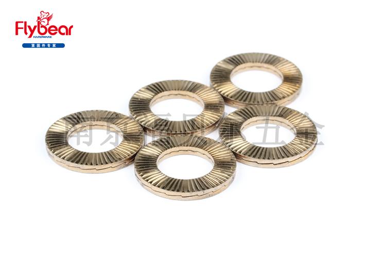 不锈钢316L材质双碟自锁垫圈 双叠锁紧垫圈防松垫圈 DIN25201