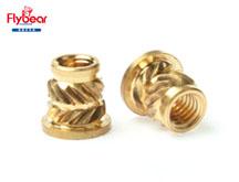 热压或超声波压入滚花铜螺母
