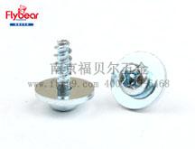 碳钢环保蓝白锌 十字槽盘头组合螺钉