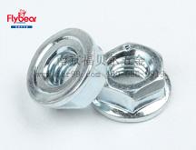 碳钢8级蓝白锌法兰面锁紧螺母