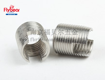 不锈钢303材质一字槽嵌件螺套 开槽镶嵌件  自攻镶嵌件