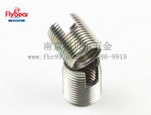 碳钢环保彩锌开槽自攻镶嵌件 一字槽钢丝螺套 嵌件
