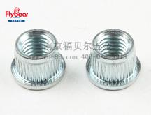 碳钢蓝白锌拉铆螺母 拉门螺套 竖纹铆螺母