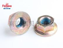 碳钢8级法兰面锁紧螺母GB/T6177预涂蓝色锁紧胶 锁紧螺母 法兰螺帽