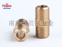 H59铜材质按图定制管接头 管螺纹直通 通孔管接件