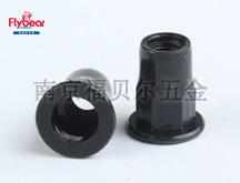 碳钢镀黑锌按图六角铆螺母 平头铆螺母 半六角铆螺母
