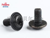 碳钢4.8级镀环保黑锌十字槽圆头带介螺钉DIN967