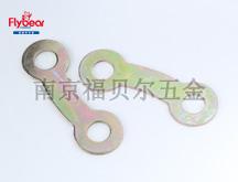 碳钢镀彩锌定制双耳锁紧垫片双孔垫片