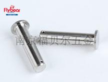不锈钢304材质定制平头销圆柱销插孔销尾部打孔销