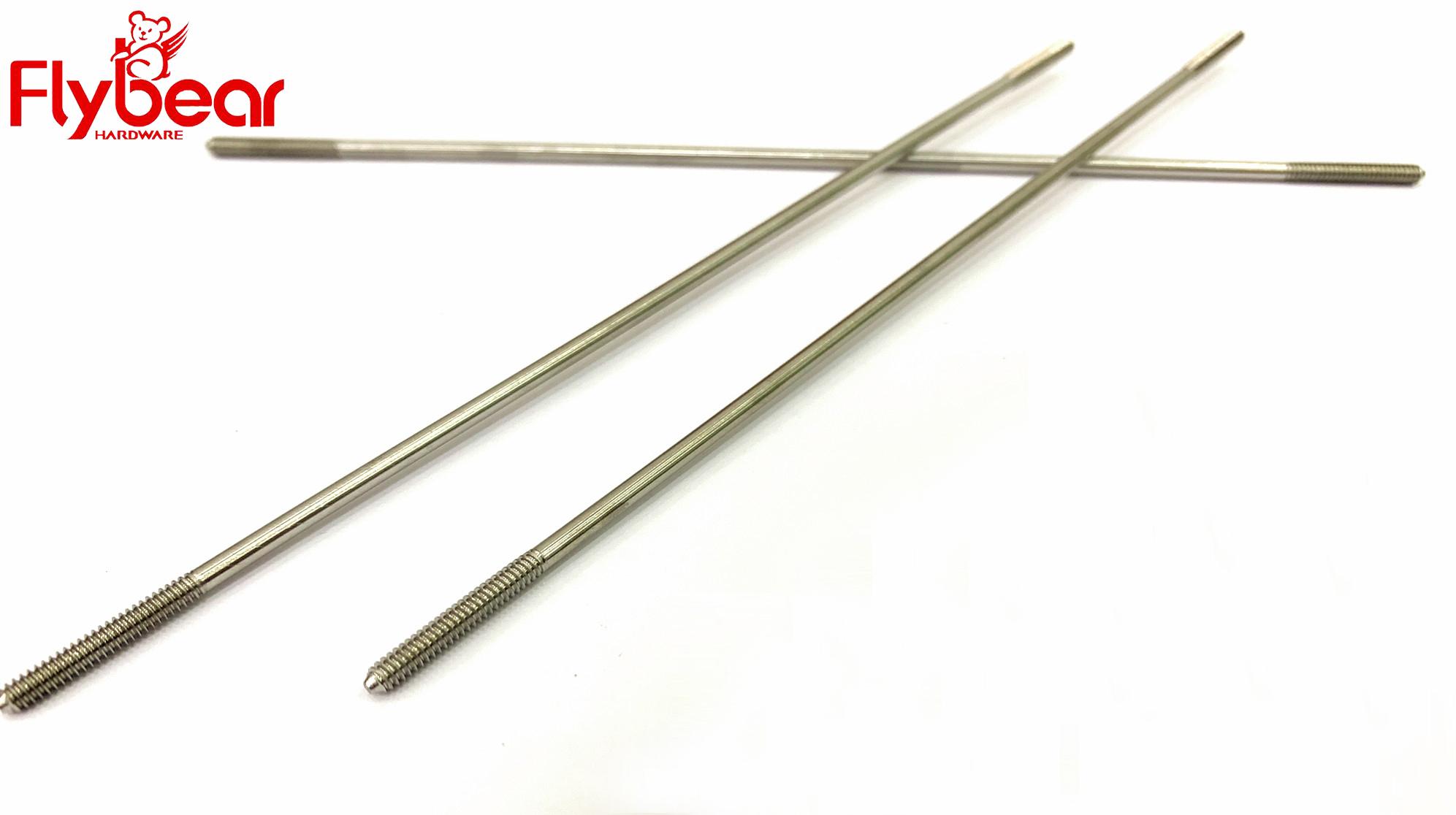 微型双头螺栓超细M2.4超长168.4MM医疗螺栓医疗螺丝