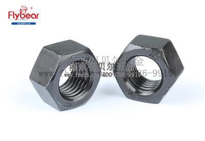 A194.GR.2材质镀发黑六角螺母(GB6170)