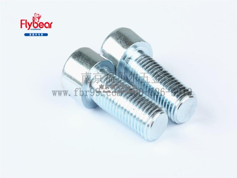 碳钢8.8级蓝白锌内六角圆柱头左旋螺钉 反牙内六角螺丝