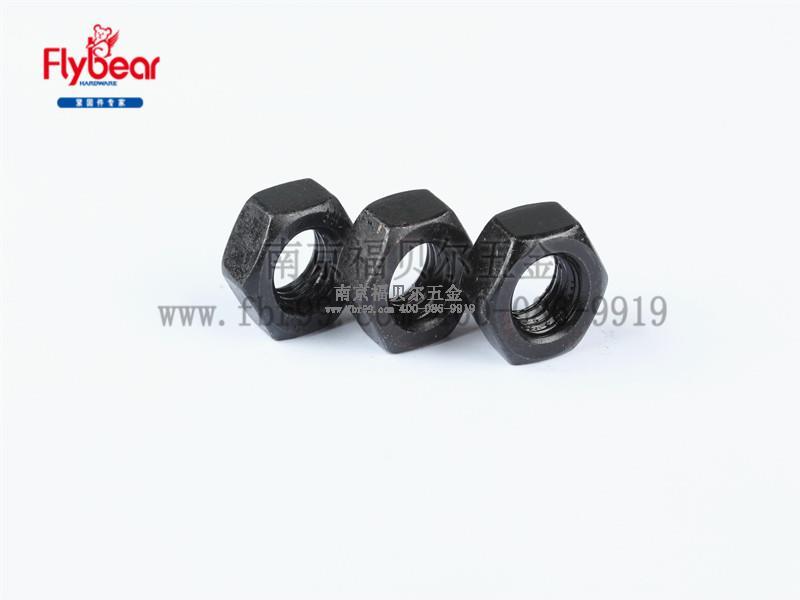 碳钢10级发黑外六角反牙 左旋螺母GB/T6170