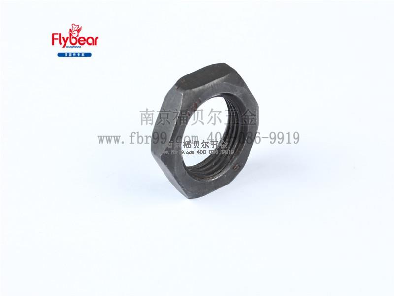 碳钢5级发黑外六角反牙(左旋)薄螺母GB/T6172