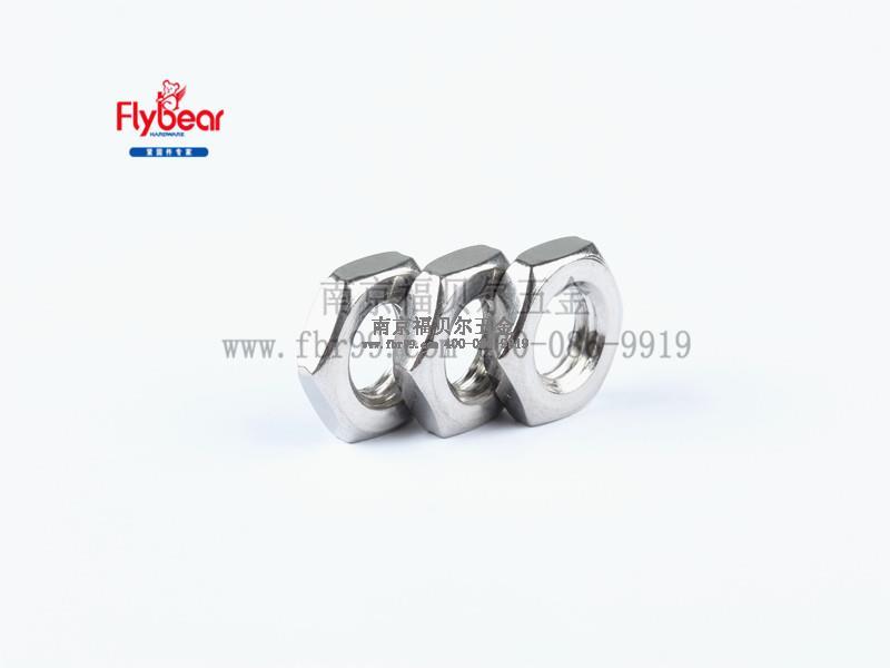 不锈钢304材质外六角左旋薄螺母GB/T6172 反牙螺母