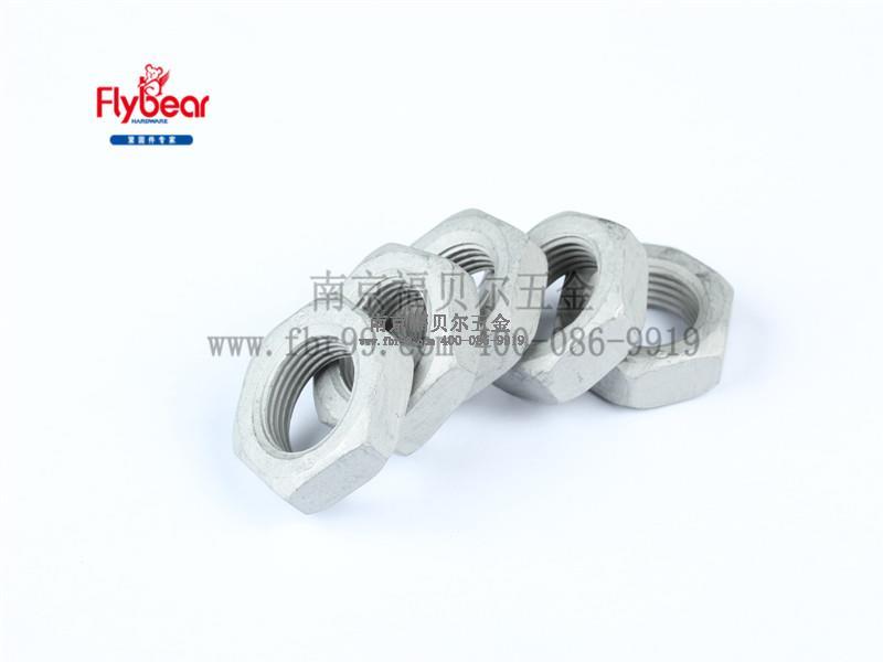 碳钢05级达克罗外六角反牙细牙薄螺母左旋螺母 细牙螺母GB/T6173