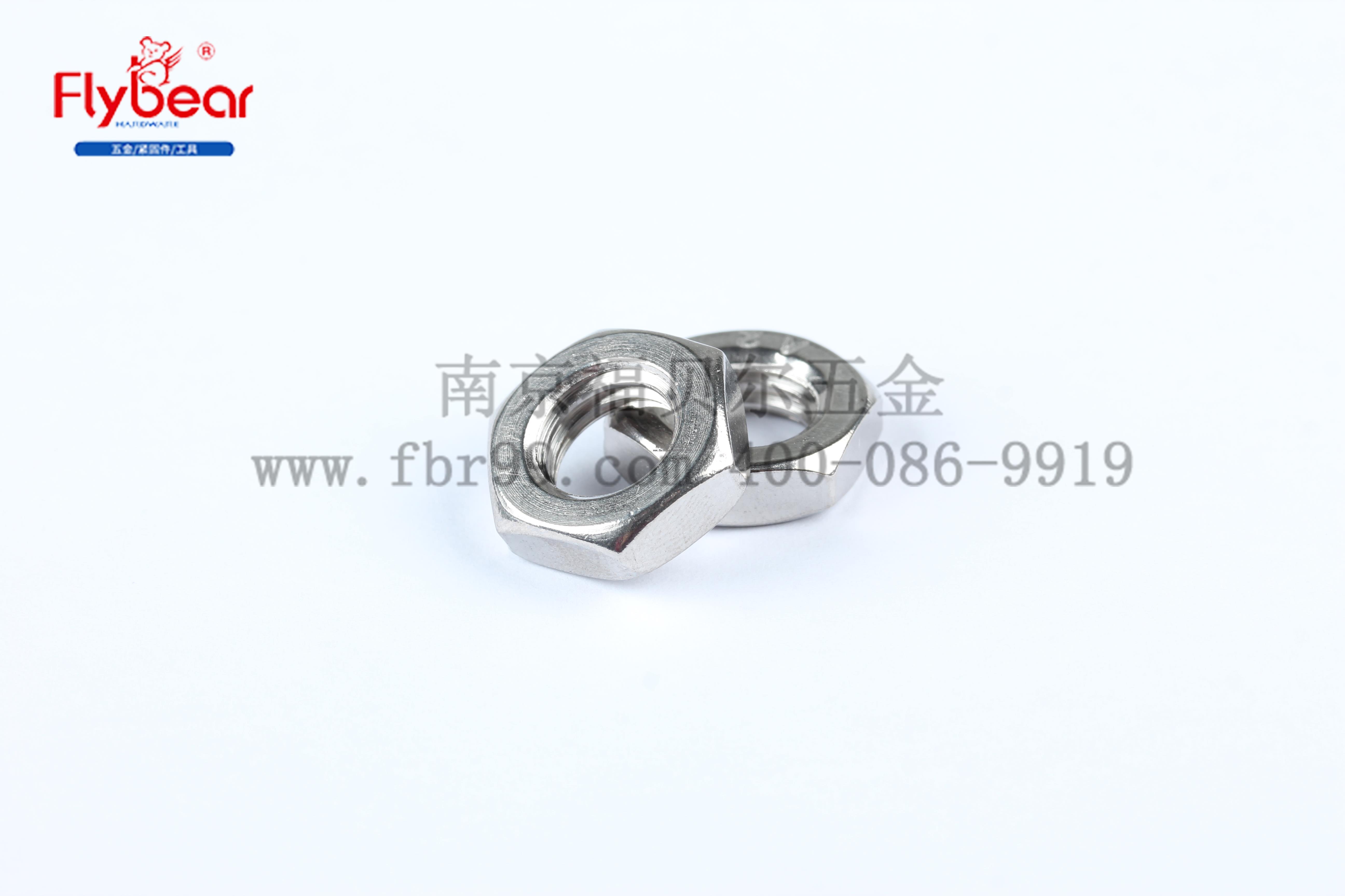GB6170 左旋六角薄螺母 304不锈钢  反牙